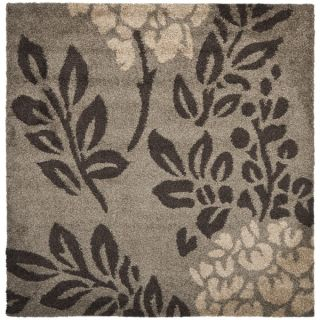 Safavieh Shag Smoke/ Dark Brown Rug (4 Square)   17097145