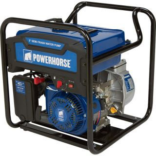 Powerhorse Extended Run Semi-Trash Water Pump — 2in. Ports, 7860 GPH, 212cc OHV Engine, 5/8in. Solids Capacity, Model# DS20  Engine Driven Semi Trash Pumps