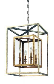 Troy Lighting F9994GSL Gold Silver Leaf Pendant Light