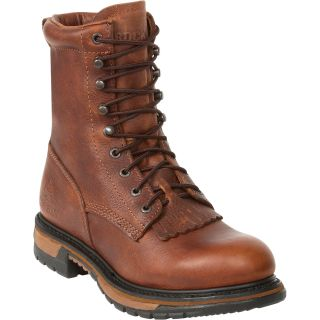 Rocky Ride 8in. Lacer Western Boot — Brown, Size 15 Wide, Model# 2722
