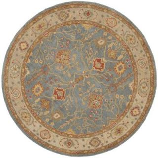 Safavieh Antiquity Blue/Ivory 6 ft. x 6 ft. Round Area Rug AT314A 6R