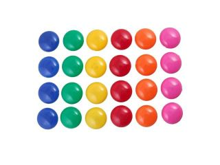 24 Pcs Presentation Whiteboard Round Button Fridge Refrigerator Magnets