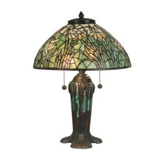 Radionic Hi Tech Nevaeh 22.00 in. Bronze Verde Hand Rolled Art Glass Table Lamp DT_TL_TT90429_RHT