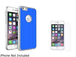 Insten Blue Brushed Aluminum Case Cover with Colorful Diamond Screen Protector for Apple iPhone 6 (4.7 inch) 2002641