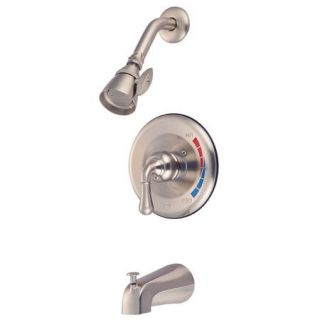 Kingston Brass KB638 Satin Nickel Tub And Shower Faucet