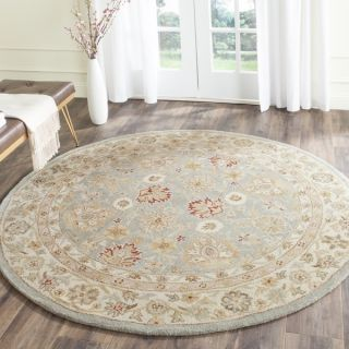 Safavieh Antiquity Grey Blue/ Beige Rug (8 Round)   16336251