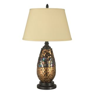 Dale Tiffany Antique Gold Mosaic Table Lamp   Table Lamps