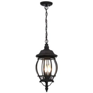 Glomar Concord 3 Light Textured Black Outdoor Hanging Lantern HD 896