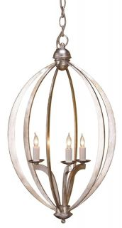 Currey and Company 9482 Contemporary Silver Leaf Pendant Light   Build