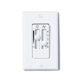 Emerson Fans White Dual Slide Ceiling Fan and Light Wall Control