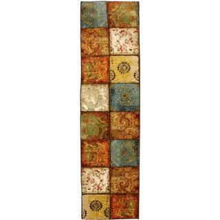 Safavieh Lyndhurst Collection Multicolor/ Red Runner (23 x 8