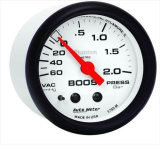 Auto Meter   Phantom Mechanical Metric Boost/Vacuum Gauge
