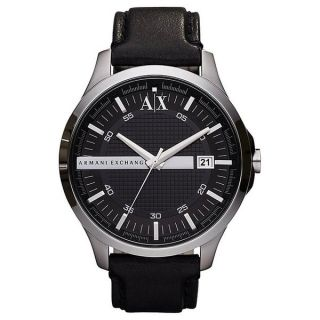 Emporio Armani Mens AR1611 Classic Black Leather Watch