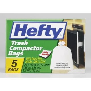 Hefty Trash Compactor 18gal White (RE2 1218)   Trash Bags & Holders