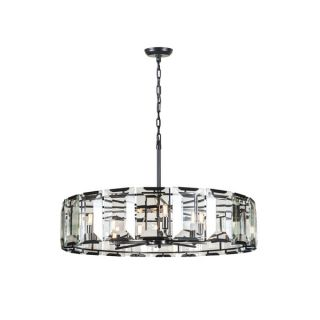 Elegant Lighting Monaco Collection 1211 Pendant Lamp with Flat Black