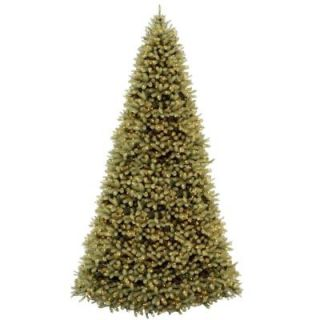 National Tree Company 12 ft. Feel Real Downswept Douglas Hinged Artificial Christmas Tree with 1500 Clear Lights PEDD1 372 120