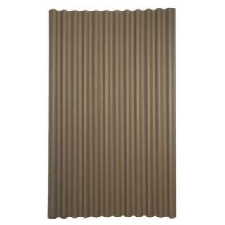 Ondura 6 ft. 7 in. x 4 ft. Asphalt Corrugated Roof Panel in Gray 150