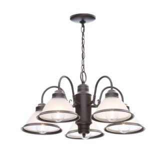 Commercial Electric Halophane 5 Light Oil Rubbed Bronze Chandelier WB0390/ORB
