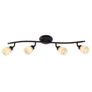 Hampton Bay 4 Light Bronze Directional Ceiling or Wall Track Lighting Fixture RB171 C4