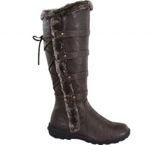 Womens Wild Diva Aura 42 Fur Boot   Brown Faux Leather    & Exchanges