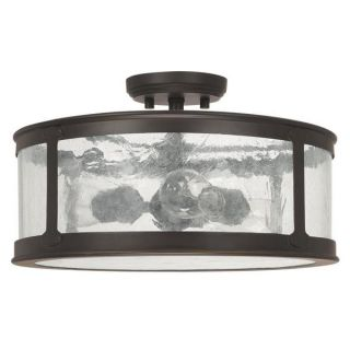 Capital Lighting Dylan Collection 3 light Old Bronze Outdoor Semi