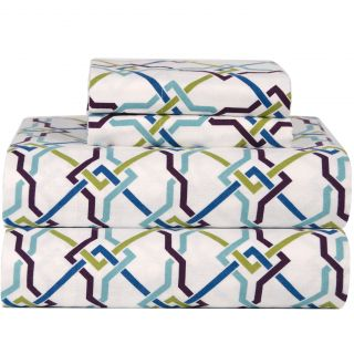 Celeste Home Celeste Home Ultra Soft Flannel Lattice Cotton Sheet Set