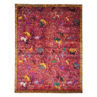 Sari Silk with Ikat Design Hand knotted Oriental Rug (8 x 104)