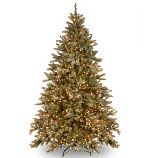 Snowy Concolor Fir 7.5 Green Artificial Christmas Tree with 750 Clear