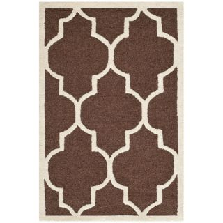 Safavieh Handmade Moroccan Cambridge Dark Brown Wool Rug (2 x 3