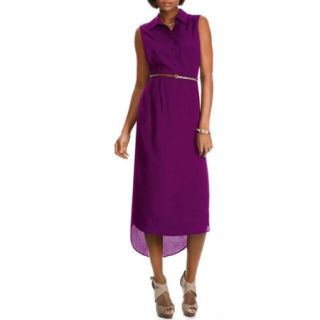Miss Tina Womens Maxi Shirt Dress