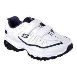 Mens Skechers After Burn Memory Fit Final Cut Walking Shoe White/Navy